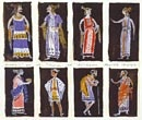 "Yannis Moralis, Costume Designs  Aristophanes, ""Plutus""  Theatro Technis  Pedio Areos 1957"