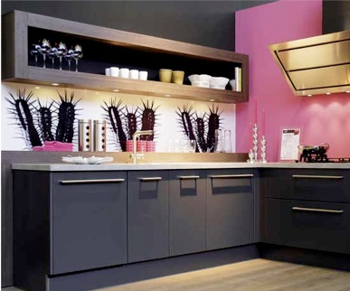 [+] Black And Pink Kitchen Ideas