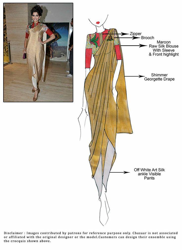 Sonam Dhoti Style Ready Stitched Saree