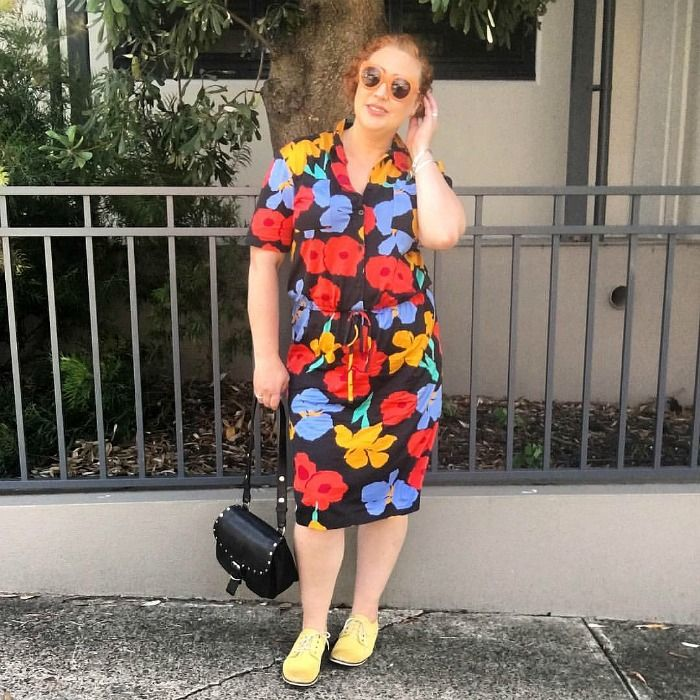The Thrifted Redhead | thrifted vintage Simona dress