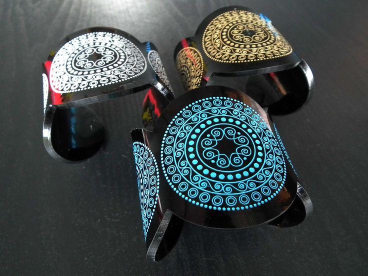 Beautiful Perspex Cuffs