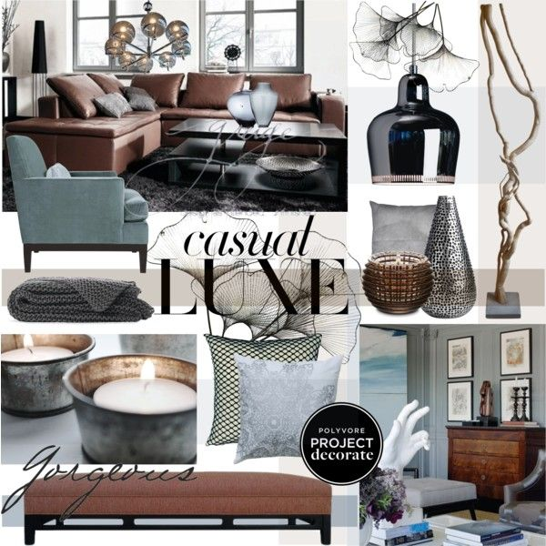 Casual Luxe by szaboesz on Polyvore featuring interior, interiors, interior design, home, home decor, interior decorating, Artek, River Cottage Gardens, Baccarat and Lazy Susan