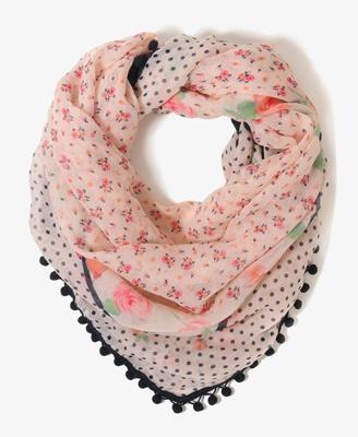 1011408179, Trim Scarf, Floral Pompom, Pom Poms, Style, Pompom Trim, Scarves, Pom Scarf, Dreams Closets