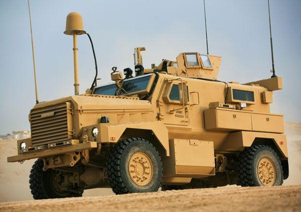 military MRAP Cougar. Mine Resistant Ambush Protected vehicle