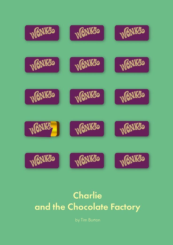 Charlie and the Chocolate Factory (2005) ~ Minimal Movie Poster by Daria Shubina #amusementphile