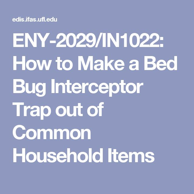 ENY-2029/IN1022: How to Make a Bed Bug Interceptor Trap out of Common Household Items