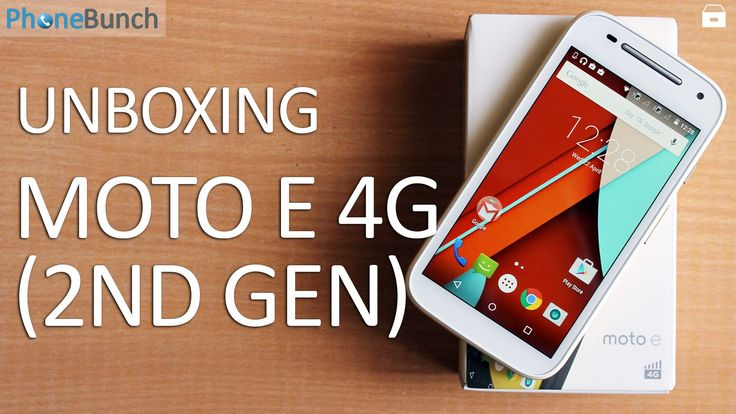 Motorola Moto E (2nd Gen) 4G was launched earlier this week, here's our Unboxing #MotoE #DualSIM
