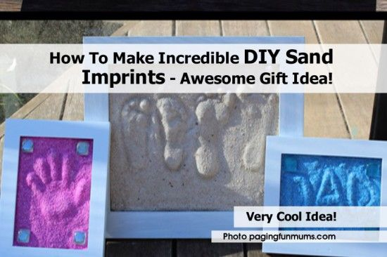 How To Make Incredible DIY Sand Imprints - Awesome Gift Idea! - http://www.diyprojectsworld.com/how-to-make-incredible-diy-sand-imprints-awesome-gift-idea.html