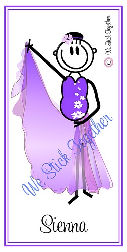Calisthenics Sienna All hand drawn by Jacqui  Find us on facebook https://www.facebook.com/westicktogetherstickers?ref=ts=ts