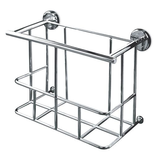 chrome magazine rack wall mounted | Minimalist Magazine Rack | Signature Hardware