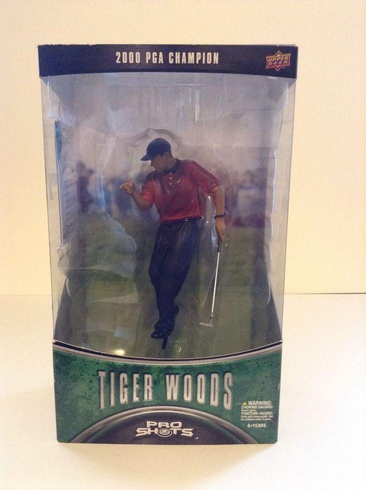 New Upper Deck Pro Shots Tiger Woods 2000 Us Open Golf Champion Action Figure #UpperDeck