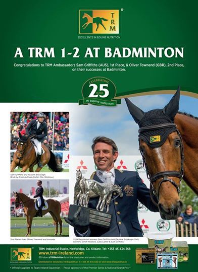#TRMAmbasssadors Sam Griffiths and Oliver Townend 1st and 2nd at Badminton 2014!!