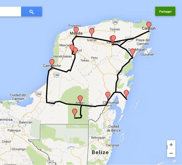 Road trip au Mexique: Mon itinéraire au Yucatan