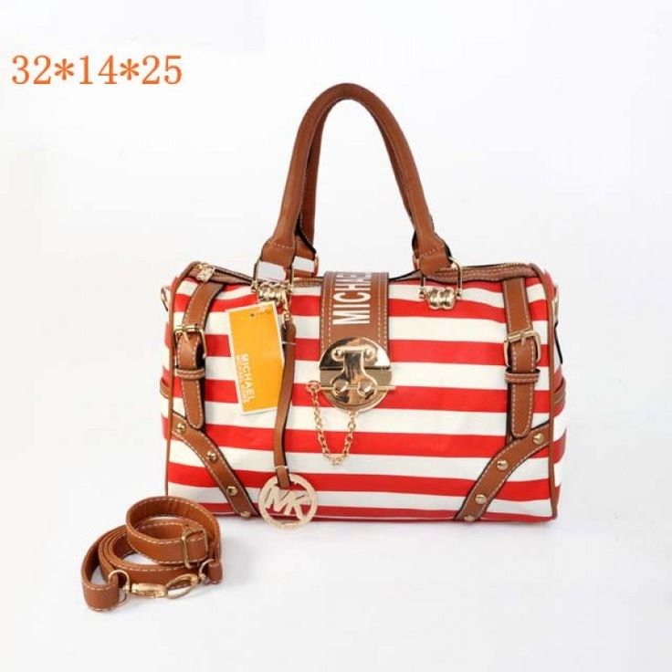 Michael Kors Striped Travel Tote