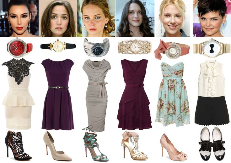 Image and Style Identity Cheat Sheet 003 - Romantic Style: Dramatic Romantic - Kim Kardashian, Romantic Classic - Rose Byrne, Romantic Natural - Jennifer Lawrence, Romantic Ethereal - Kat Dennings, Romantic Ingenue - Scarlett Johansson, Romantic Gamine - Ginnifer Goodwin.