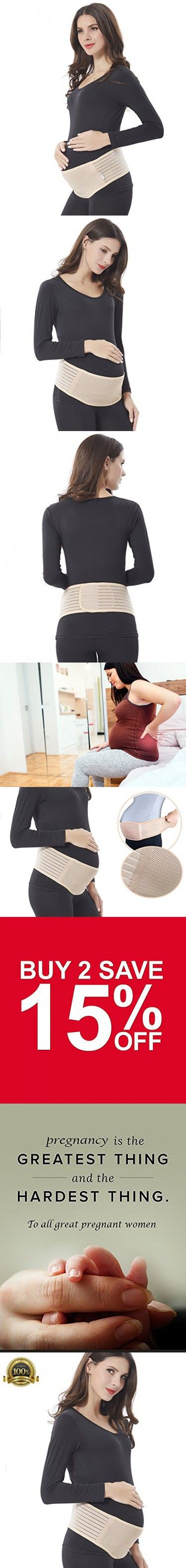 #1 Top Recommended Maternity Belt - Babo Care Breathable Lower Back and Pelvic Support - Comfortable Belly Band for Pregnancy - Prenatal Cradle for Baby - One Size,Nude Color