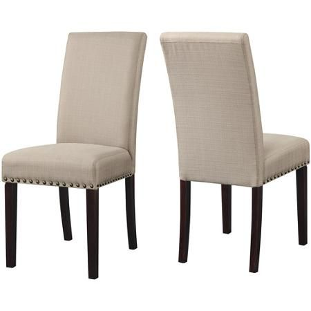 DHI Nice Nail Head Upholstered Dining Chair, Set of 2, Multiple Colors - Walmart.com $99