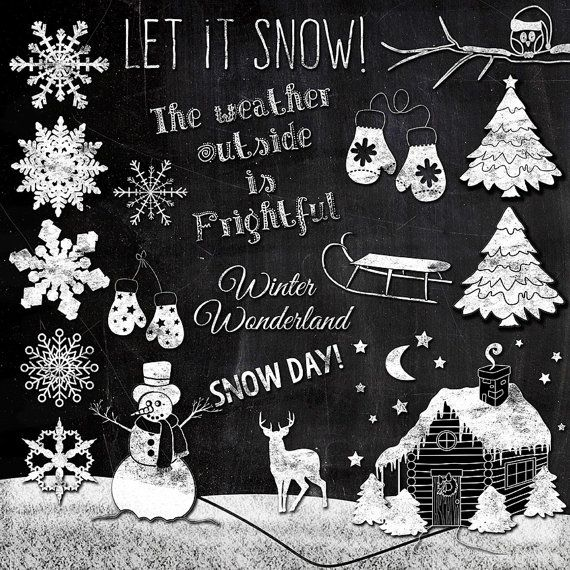 Winter Wonderland Clipart by TheArtBoxDesigns