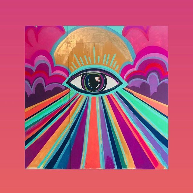 E Y E A M O P E N Artist Lm Artndesign Hippie Painting Canvas Art Painting Trippy Painting