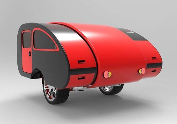 Expandable Teardrop Trailers - This Kaesar Camp Trailer Adjusts to Variable Sizes and Needs (GALLERY)