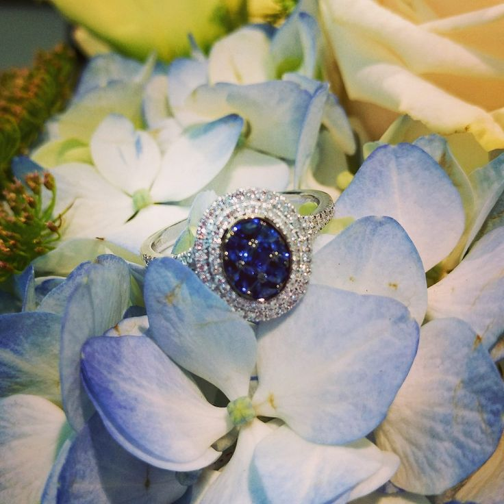 Have a great week and amazing October everyone. #october #month #starting #fall #intheair #bobthompsonjewellers #simongjewelry #sapphire #diamond #ring #highlights #hydrangea #flowerstagram #fallfashion #insta #fashionjewelry #beunique