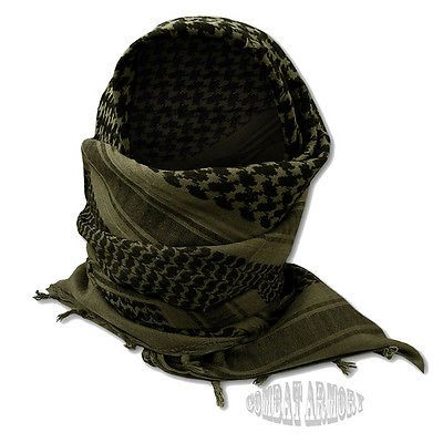 New OD Olive Drab Green Shemagh Military Tactical Arab Cotton Shawl Scarf Wrap