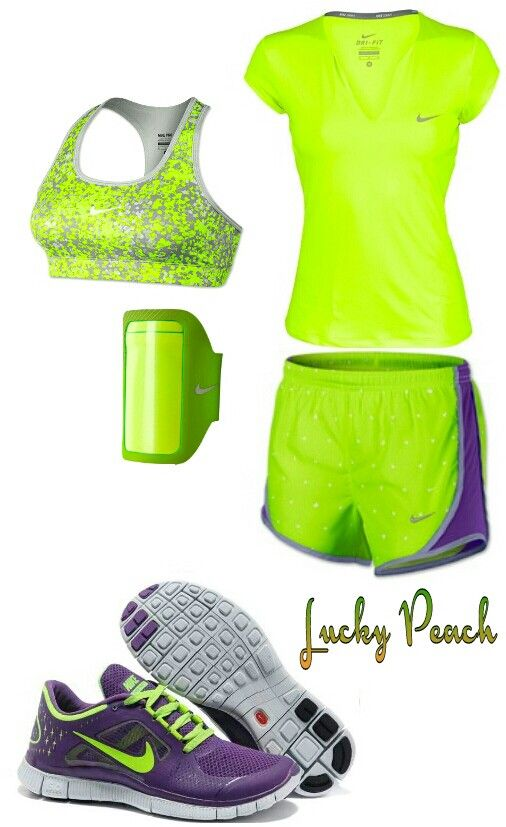 Love Nike workout outfits ..especially bright  Ones!!!