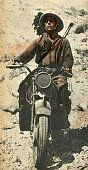 Pin by Paolo Marzioli - North African Campaign Italian invasion of Egypt Bersagliere on motorcycle in Cyrenaica during the advance of the summer of 1940 in the area of Sidi...