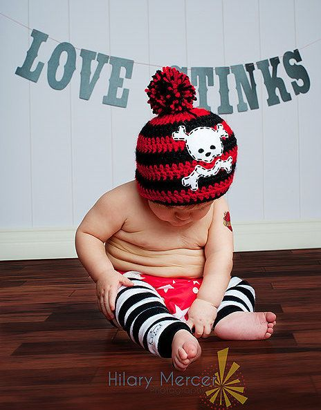 Adorable Pirate Hat Great Photo Prop Made to Order 15 by Grubknits