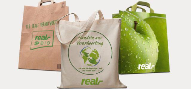 Real schafft die Plastiktüte ab!