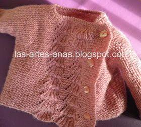 HE ELEGIDO un punto calado para esta moderna chaqueta de bebé con cierre lateral, e investigando, he descubierto que se llama ...