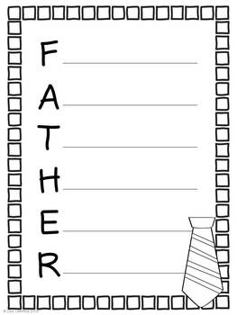 FREEBIE! I hope you enjoy this Father's Day acrostic poem activity! I have included several different acrostic poem pages for fathers, one for grandpas, and a blank page that can be used for students who have someone else who is like a father to them.