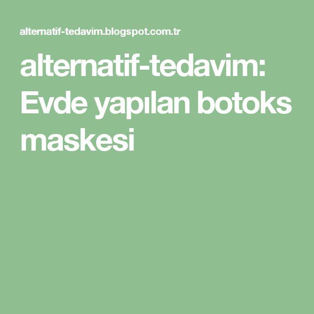alternatif-tedavim: Evde yapılan botoks maskesi