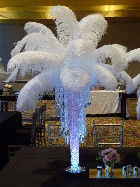 17 Best Ideas About Ostrich Feather Centerpieces On Pinterest Feather Centerpieces Gatsby