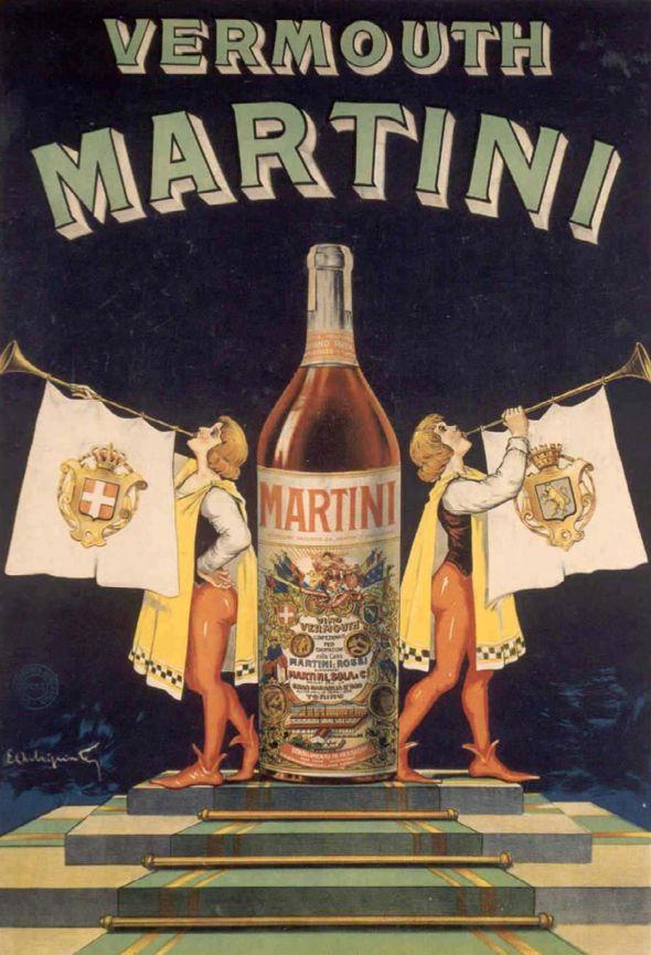 Vintage Italian Posters ~ #illustrator #Italian #posters - Martini Vermouth