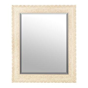 Ornate Distressed Cream Mirror, 29x35 in.