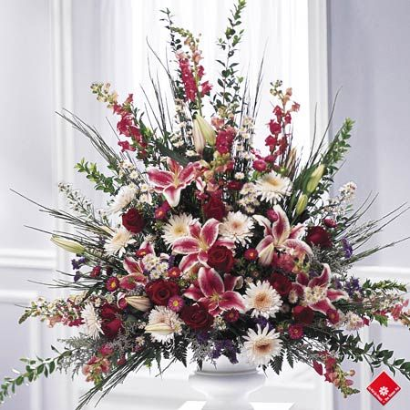 Big flower decorations my web value extra large silk flower arrangements bing images bridgeeyu0027s blog gothic wedding centerpieces red and black red and funeral floral mightylinksfo