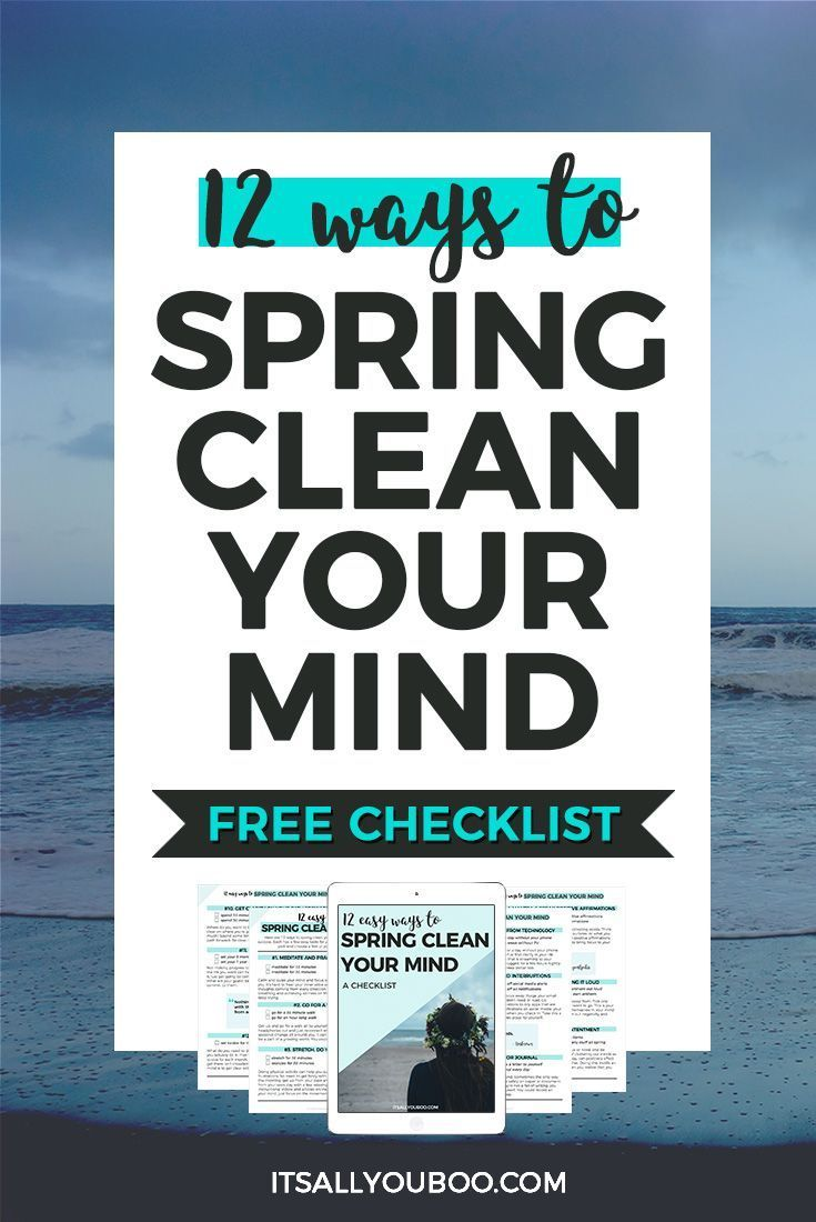 It's time to spring clean your mind and jumpstart your life for success. Get your free spring clean your mind checklist.