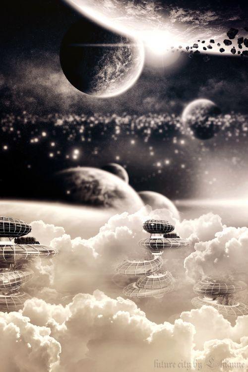 """digital art """"future city"""" by Lhianne http://onlyunique.net/m/photos/view/future-city"""