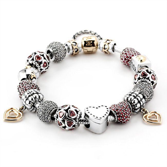 How Much Is A Pandora Charm Bracelet: Pandora Always In My Heart Bracelet