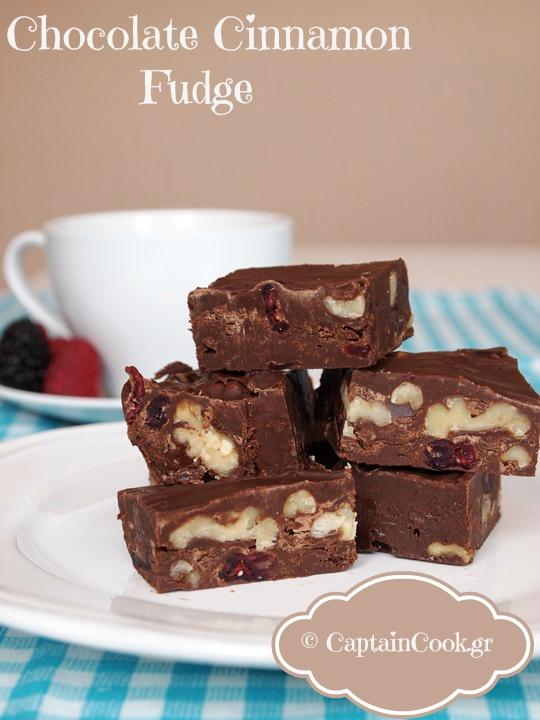 Captain Cook: Σοκολατένιο Fudge με Κανέλα και Καρύδια