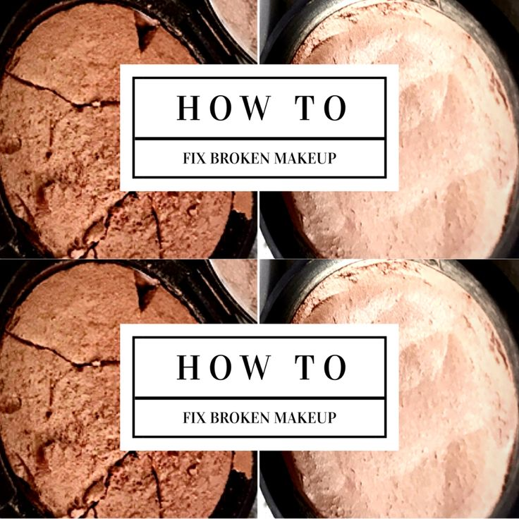 Sharing with you my quick and easy method, to fixing broken makeup.