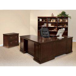 Espresso L Desk With Left Return Office Set