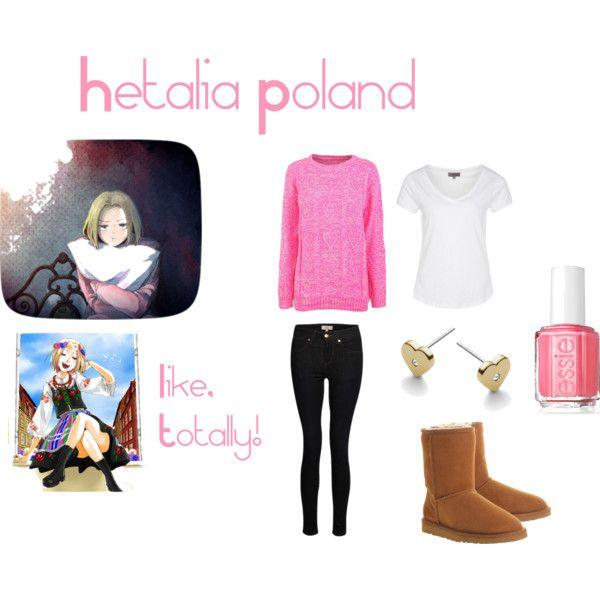 """Hetalia Poland - Casual Cosplay"" by ak-hamilton on Polyvore"