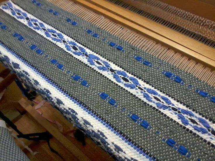 My Hobby Finally Finished Beautiful Blue Rosepath Set Off With Weaving Techniquestextile Patternsrug Ideasrag