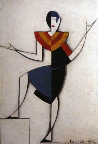 ein-bleistift-und-radiergummi:  Tullio Crali Futurist Fashion Sketch 1932