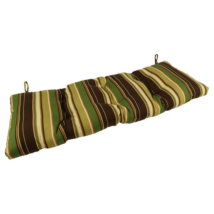 Lava Cove Stripe Cafe Sunbrella Outdoor Bench/Glider Cushion - LAVA26-0107