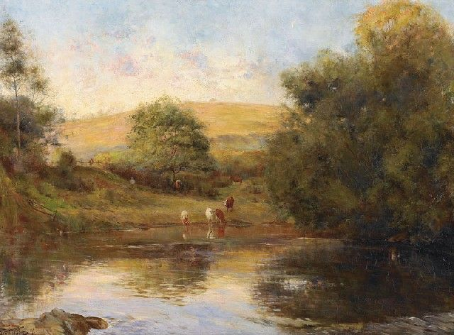 Withers, Walter, (1854-1914), After the Heat of the Day, 1891, Oil