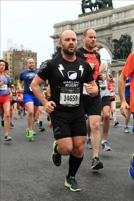 A rugby Saturday turned into a Half Marathon Saturday in Brooklyn. #Bakline Mercenary