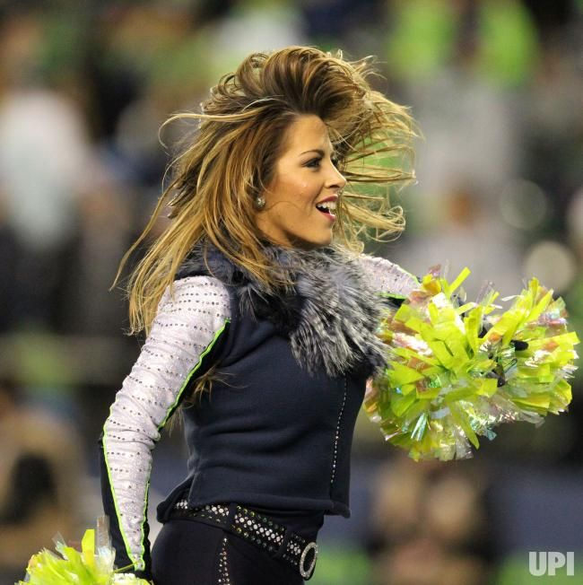 A Seattle Seagal perfoms in a Wild Card round of the NFL playoffs against the Detroit Lions at CenturyLink Field in Seattle, Washington on…